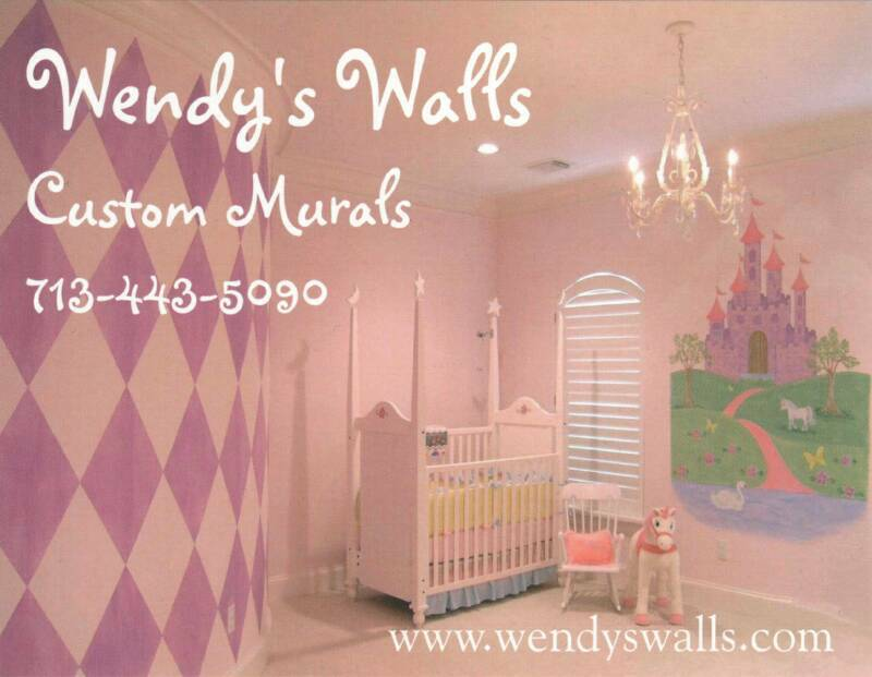 Children 39 s murals nursery murals baby room wall murals for Baby girl nursery mural