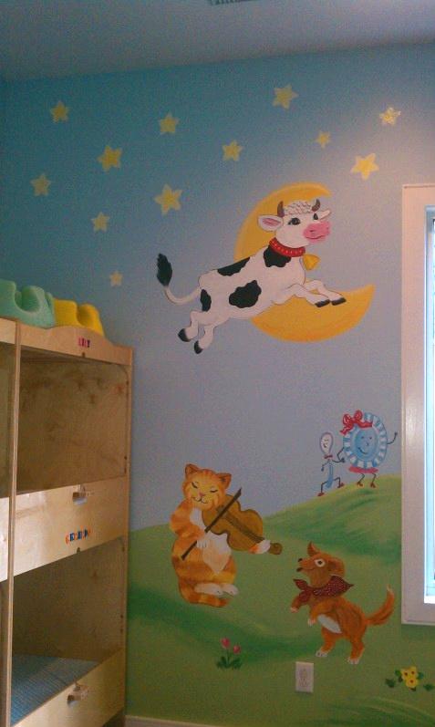 Nursery Rhymes Murals By Wendy S Walls Custom Murals Cow