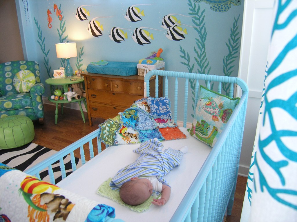 Murals children 39 s murals nursery murals and wall for Baby boy wall mural